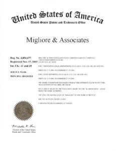 Migliore Associates US Trademark